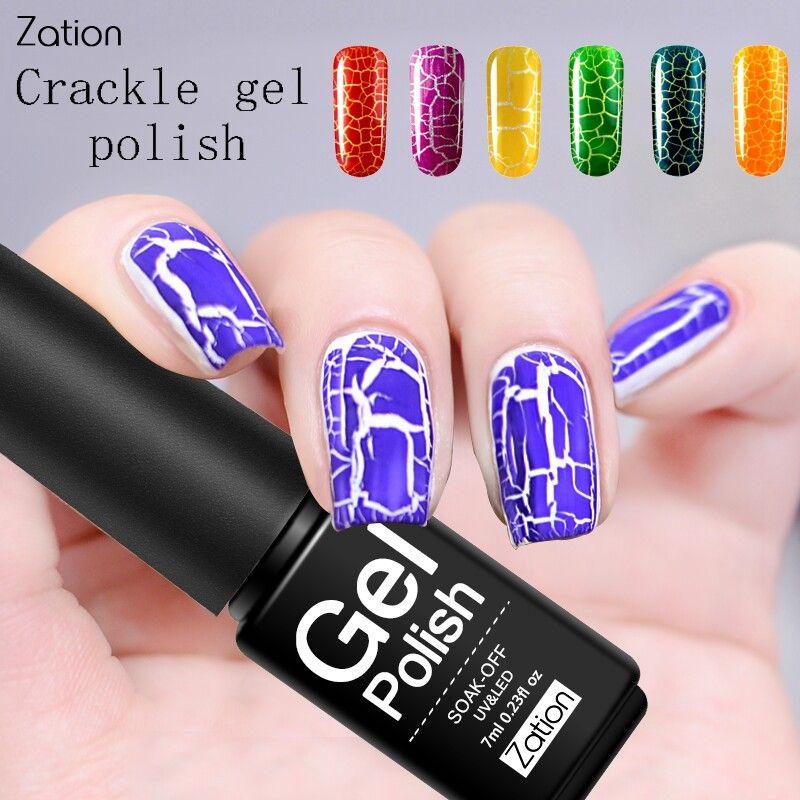 Зация Crack Shatter Крекинг Ув ногтей гель польский Продолжительный шаблон Soak Off Hybrid Акриловый клей гель лак для ногтей Art Design