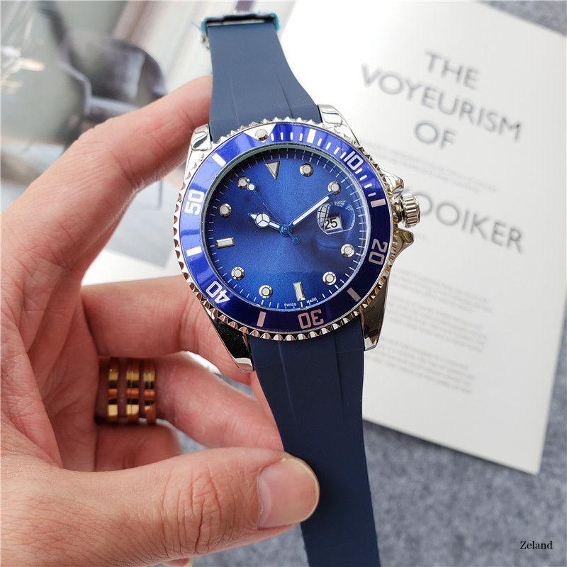 Relogio Masculino uomo e donna orologio da polso orologio da polso 40mm orologi in gomma moda nero blu quadrante master maschio 2020 regali coppie