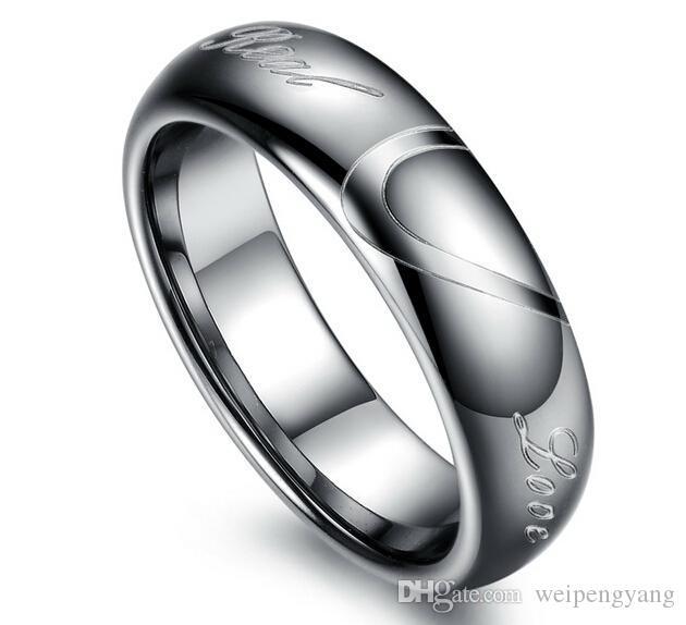 Золото карбида вольфрама Кольца Обручальные кольца в Comfort Fit Alliance ювелирные изделия для пар колец Размер 5-10 TU051RC