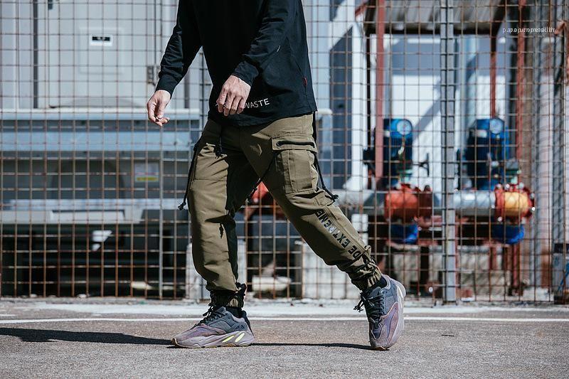 Mens Designer de Carga Pants Casual calças soltas Skate Vestuário Calças multi Pockets TKPA