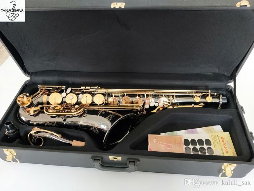 La migliore qualità Black Gold tenore Yanagisawa T-992 Tenor Saxophone in B Flat Tune strumenti musicali Prestazioni professionali regalo