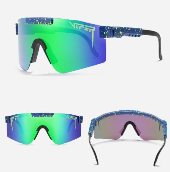 Occhiali da sole Pit Viper Grande Struttura di equitazione da sole colorato placcato completa reale Polarized Sunglasses Boxed