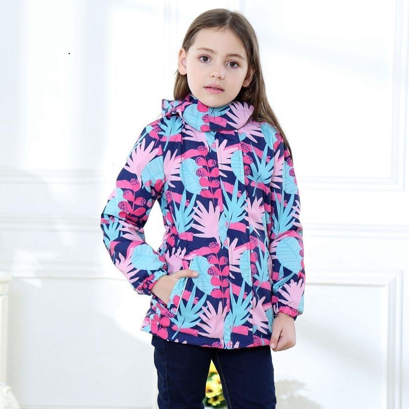 Waterproof Index 5000mm Warm Baby Girls Jackets Child Coat Polar Fleece Children Outerwear For 3-12 Years Old Winter AutumnMX190916