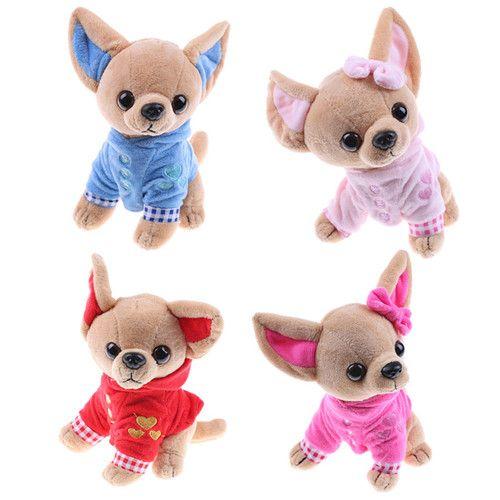 1PCS 17CM تشيهواهوا جرو لعبة أطفال KAWAII محاكاة الحيوان دمية هدية عيد ميلاد للبنات الأطفال لطيف لعبة محشوة القطيفة الكلب