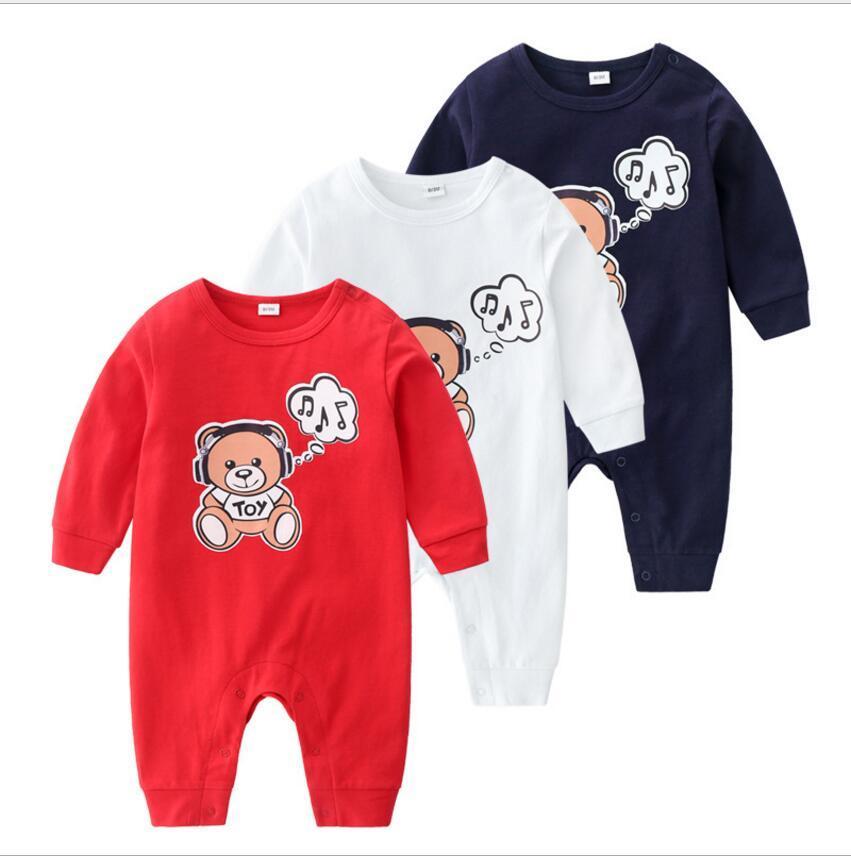 Tuta del bambino uomini autunno e della primavera e del neonato manica lunga vestiti bambino di arrampicata vestiti del bambino del cotone delle donne versatile neonato del pagliaccetto