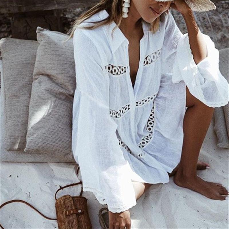 تغطية بيكيني يصل الرباط الجوف الكروشيه ملابس السباحة اللباس شاطئ المرأة 2018 الصيف السيدات الاخفاء ثوب السباحة ملابس الشاطئ تونك