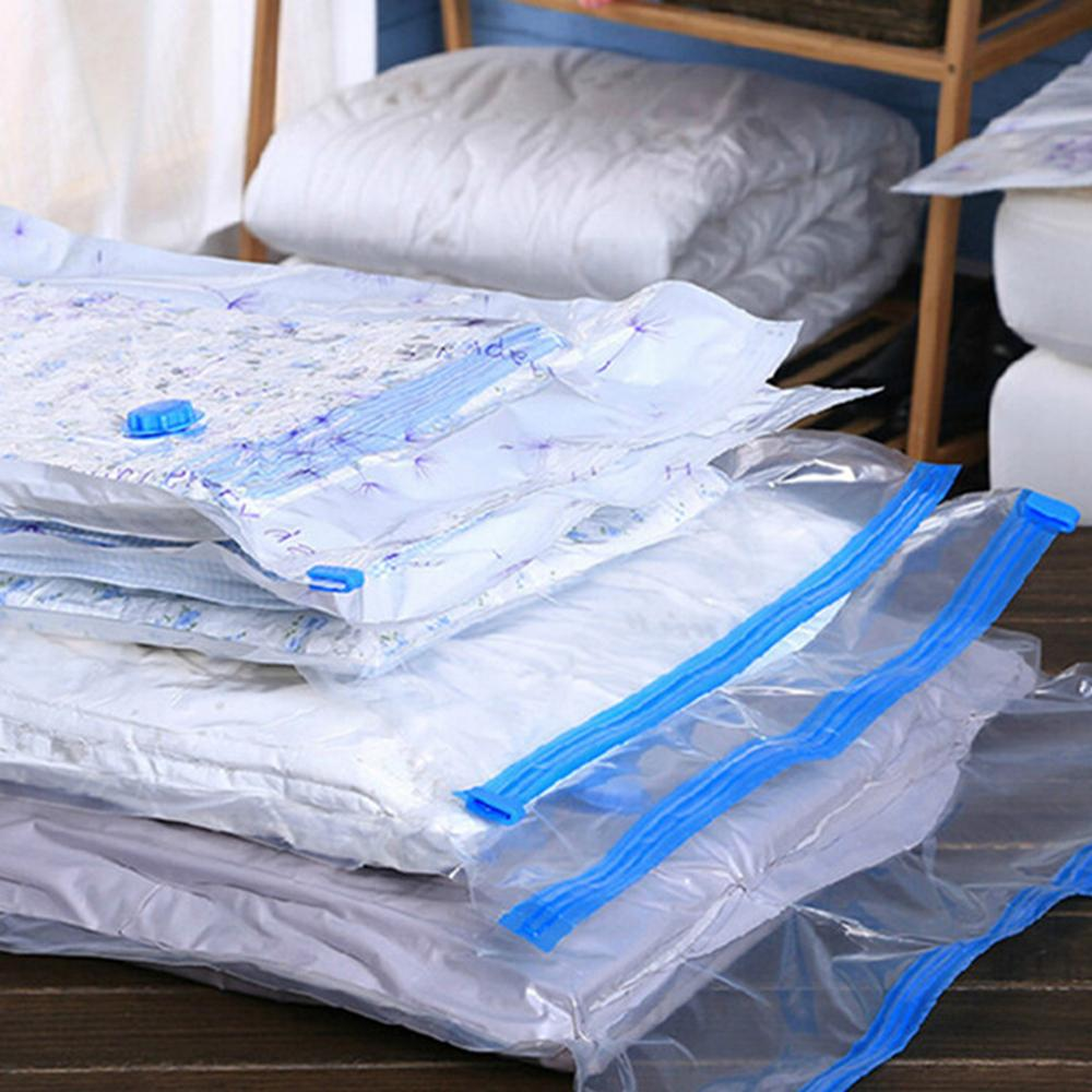Vakuumfahrer faltbar mit transparentem komprimiertem Kleidung Ventil Packungsorganisator Sortierraum Home Bag SPARING SEAL LAGERUNG WFNNI