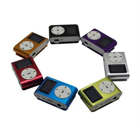 Wholesale - Colorful Mini Clip MP3 Player with 1.2 Inch LCD Screen Music player Support Micro SD Card TF Slot With Gift box