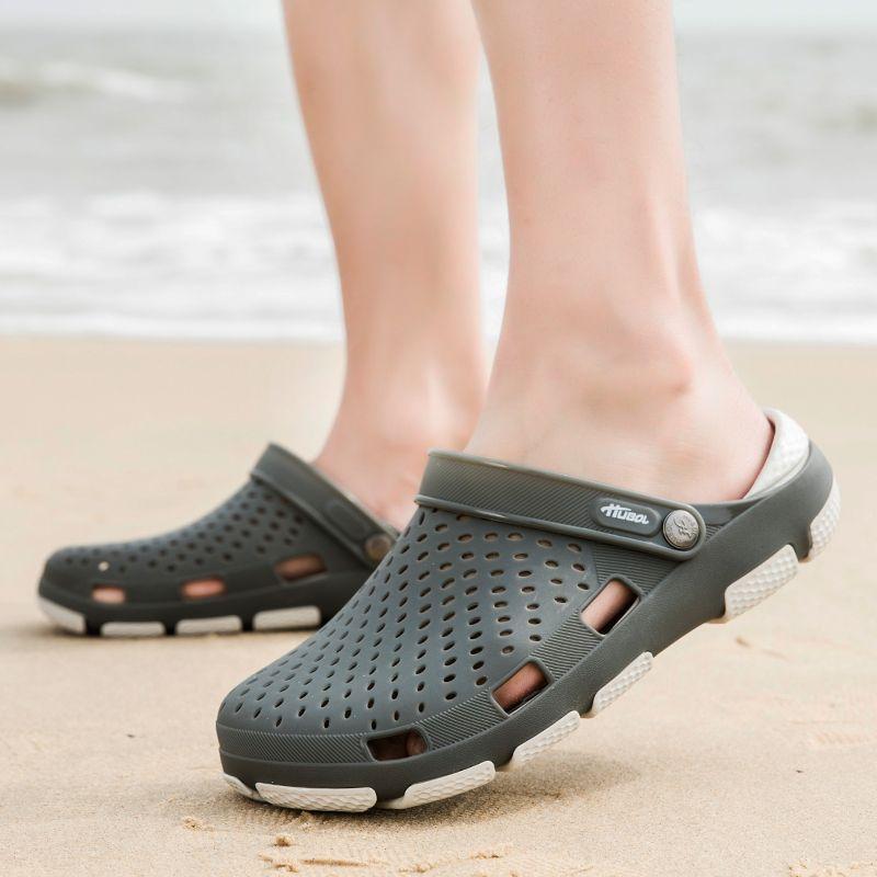 2019 Sandali Uomo Scarpe Estate Eva L'uomo senza ombra Pantofole Scarpe Moda traspirante Beach illuminato Infradito Flats acqua Uomo Sandali
