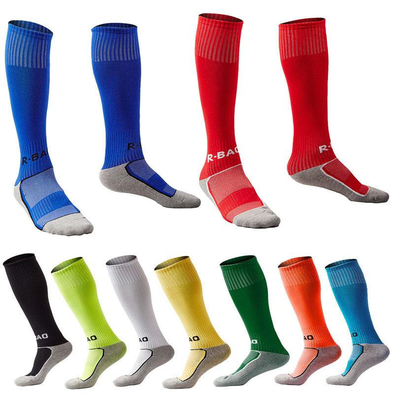 Kid's Sports Soccer Athletic Stocks Durable Towel Bottom Knee Rugby Socks High Fit 8-13 Years Old Outdoor Sports Gifts G496Q