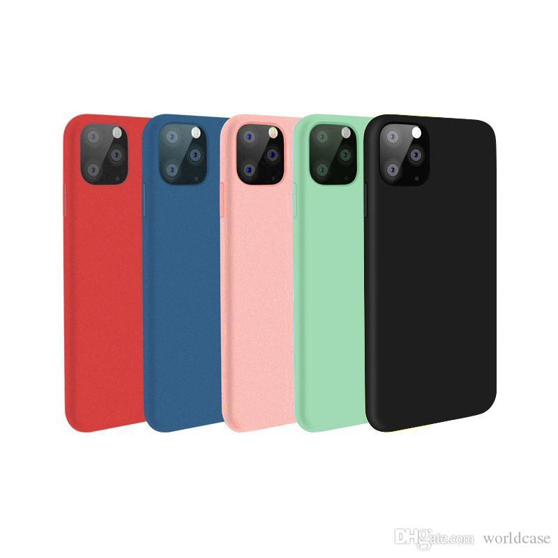 Cas liquide silicone pour iPhone XR 11 Pro Max Xs 8 7 plus souple anti-choc Téléphone Couverture