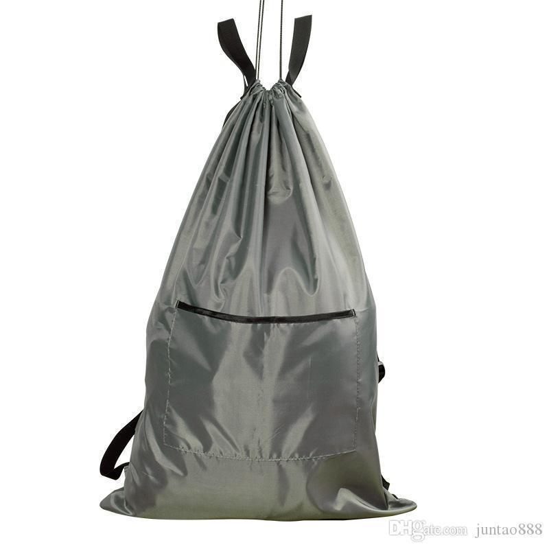 Viagem Backpack saco de armazenamento Household porta pendurar roupas saco sujas saco de roupa transporte Grey Passeio gratuito