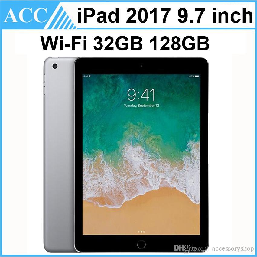 단장 한 기존 애플 iPad 2017 9.7 인치 5 세대 WIFI 버전 A9 칩셋 듀얼 코어 2GB RAM 32GB 128GB ROM 태블릿 PC 무료 DHL 1pcs