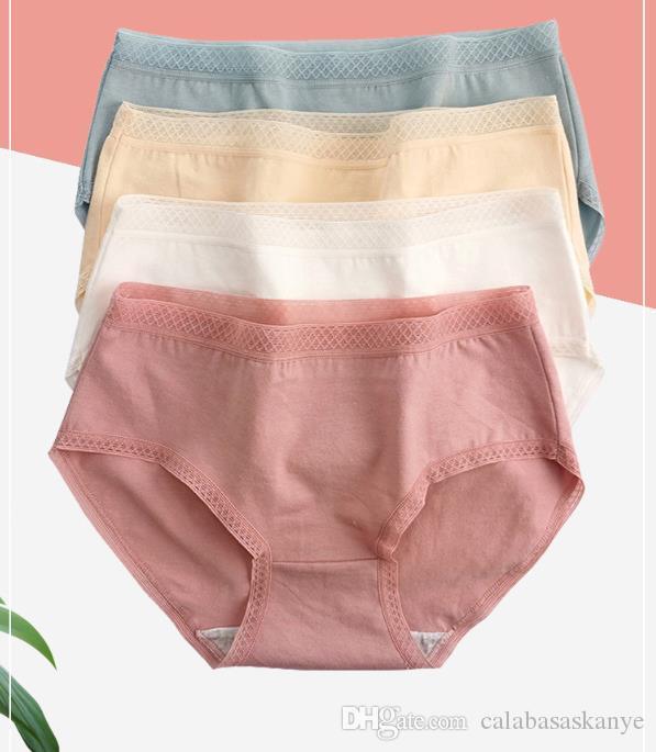 Femmes style sexy antibactériennes Culotte de coton couleur solide Designer d'été Sous-vêtements respirant Mise en forme Briefs de la hanche