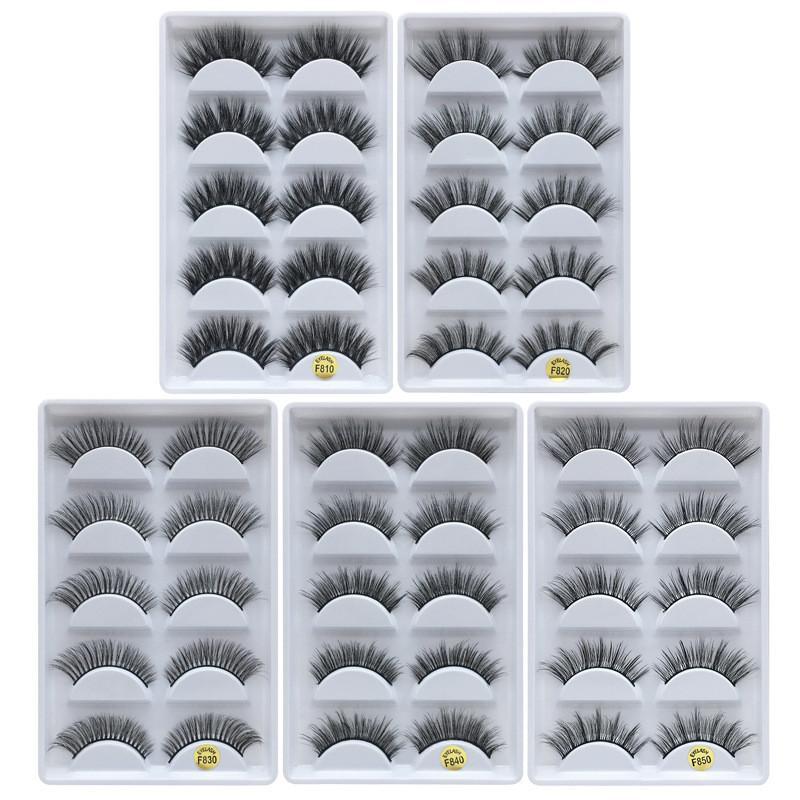 Top quality 3d Mink Eyelashes Natural Thick False Eyelashes Mink Lashes Eye Makeup Make Up Eyelash Extension Fake Eyelashes Maquiagem