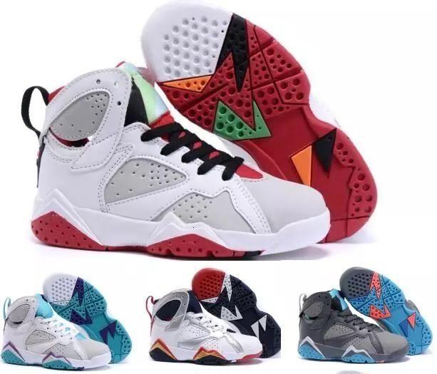 Дети 7 Олимпийская Тинкер Альтернативные 7s Raptor Зайцы J7s Мальчики девочки молодежные ботинки баскетбола ети кроссовки Размер: US11C-3Y EU28-35