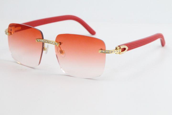 2020 무선 다이아몬드 선글라스 판매 8300816 레드 판자 선글라스 클래식 조종사 금속 프레임 간단한 레저 안경 남성과 여성