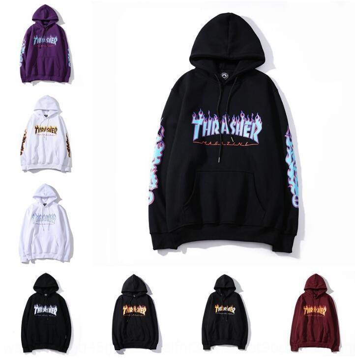 gxpWC 2020 chama Kirin impresso impresso braço fashion br marca chama Kirin braço wo do hoodie moletom com capuz moda 2020 homens e mulheres
