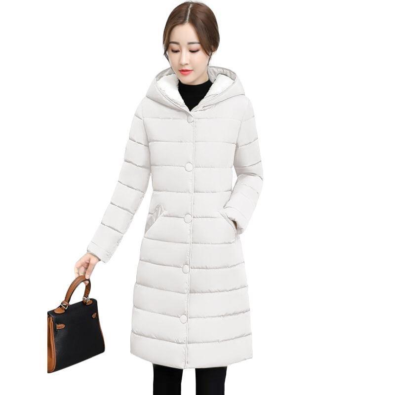 2018 Winter Jacket Women thick Winter Coat Lady Clothing Female Jackets Long Parkas Hooded Warm Beige Parka down cotton jacket