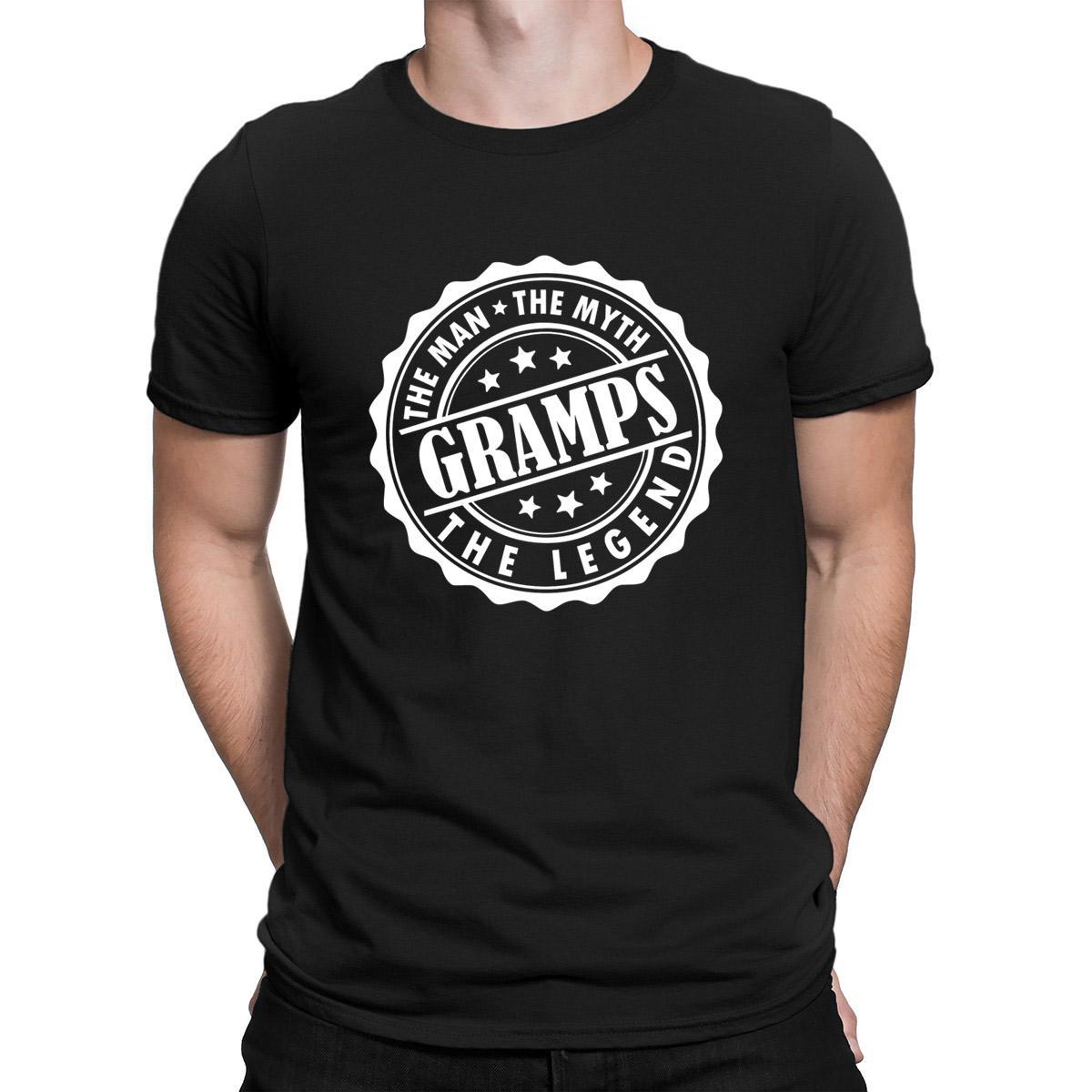 Gramps Der Mann der Mythos die Legende T-Shirt Billig Verkauf Short Sleeve Personality Männer-T-Shirt Grund Letters 2018-T-Shirt Quirky
