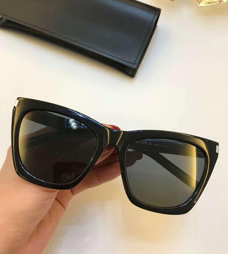 donne Kate SL 214 Havana Brown Shades occhiali da sole unisex sole Eyewear guida vetro di modo nuovo in scatola