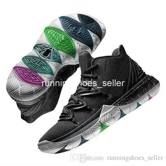 2019 2019 New Kyrie 5 Black Magic Travis Taco Bennett Mens Basketball Shoes Irving 5s 3M Athletic Sport Chaussures Zapatillas Sneakers Eur 40 46 From