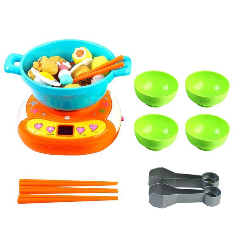محاكاة الأطفال تلعب منزل مطبخ لعبة كليب كليب الموسيقى الكهربائية وعاء الساخنة اللعب لغز الحياة التعليم اللعب