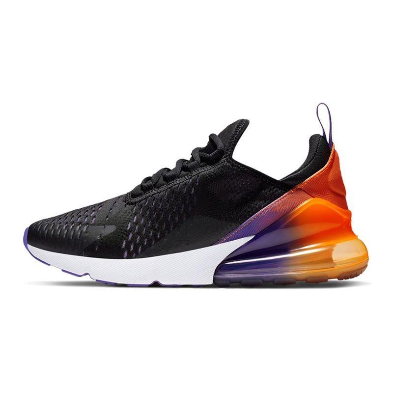 Großhandel Nike Air Max 270 Klassische Herren Damen Laufschuhe Regenbogen REGENBOGEN Ferse Schwarz Verlaufend SOMMER GRADIENTS Triple Black Sports
