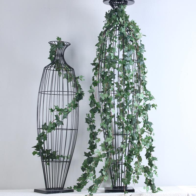 4 قطعة / الوحدة نباتات اصطناعية محاكاة 1.8 متر اللبلاب قطاع الأخضر كرمة المجاري ديكور المنزل الزفاف خلفية الجدار شنقا الروطان النباتات وهمية