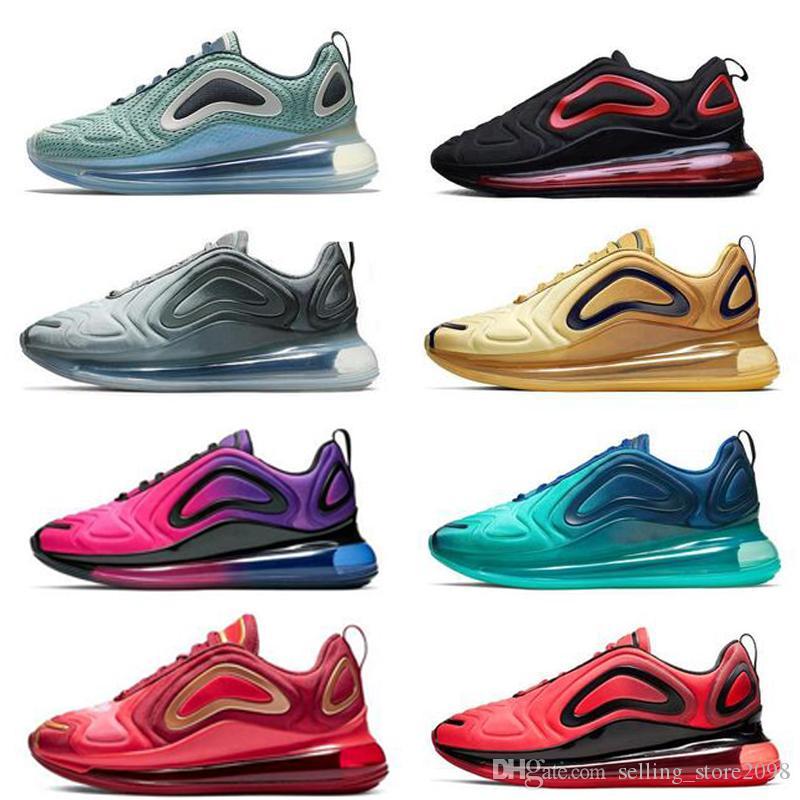 Compre Nike Air Max 720 2019 BLANCO Y AZUL AZUL NARANJA ESPÍRITU TEAL PACK  PASCUA ROSA RISE Zapatos Para Correr Hombres Mujeres Zapatillas De Deporte  ...