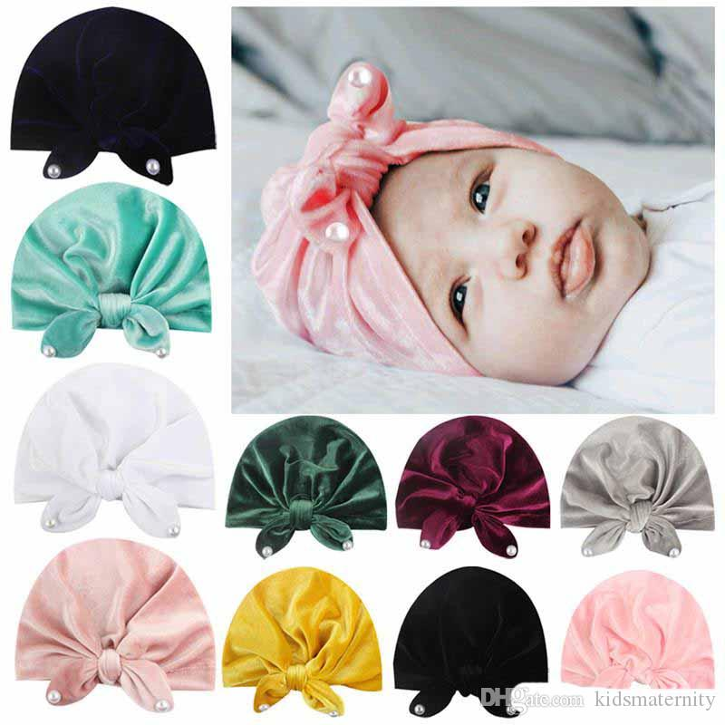 Baby Girl Headbands Infant Knotted Turban Rabbit Ears Hair Bands Soft Head wrap
