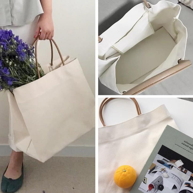 Sacs femmes 2020 Simple grande capacité Sacs à main portable mode simple épaule toile Messenger Bag