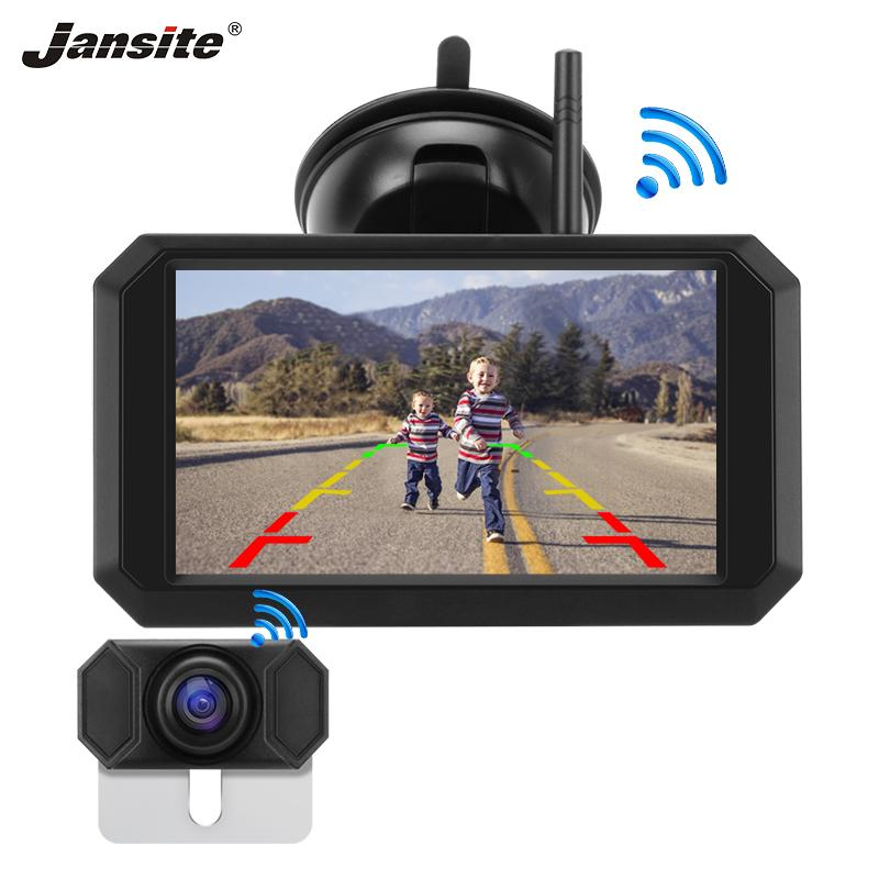 "Jansite 5"" Car Monitor Rear view camera Digital 1080P Wireless monitor Auto Parking System Night Vision waterproof Backup Camera"