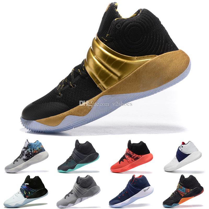 2019 جديد مصمم الأزياء والأحذية كيري 2 نيون يمزج chaussures الرجال 2s وولف غراي فريق الأحمر أحذية كرة السلة الرياضة