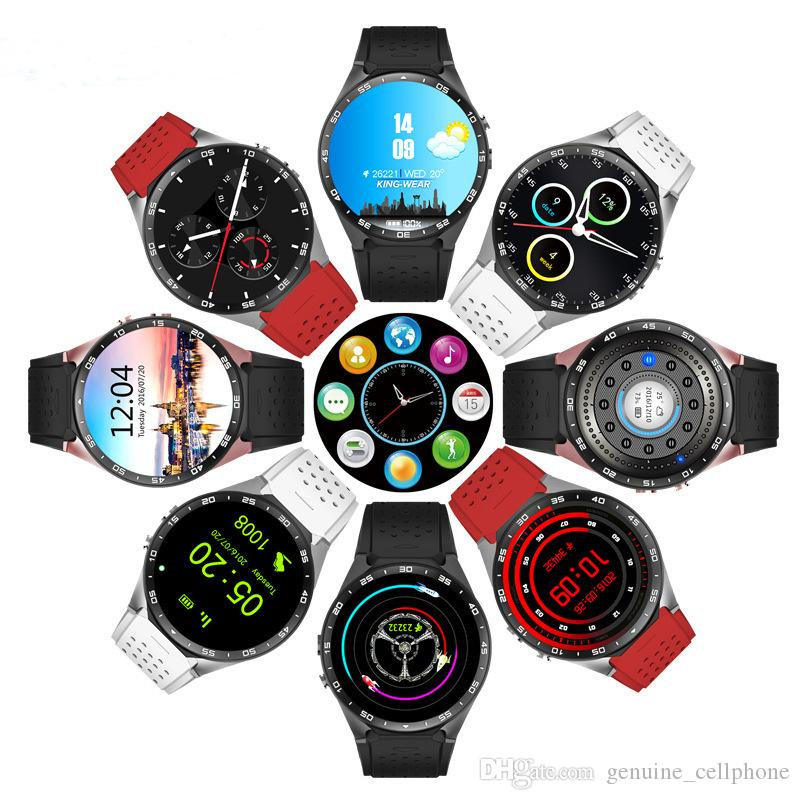 """KW88 GPS Smart Watch Heart Rate Monitor Waterproof WIFI 3G LTE Wristwatch Android MTK6580 1.39"""" Wearable Wristwatch For Android iPhone Phone"""