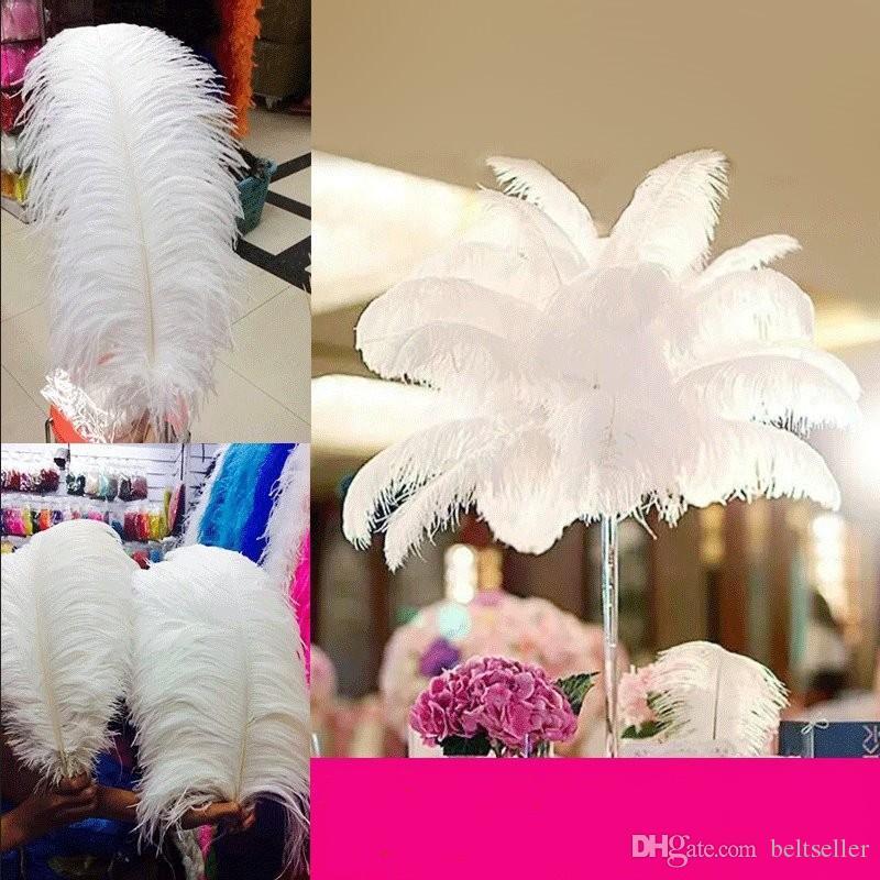 50 ПК в серии Natural White страус перо Plume Craft Supplies Свадьбы Таблица Centerpieces украшение поставляет много размера, чтобы выбрать