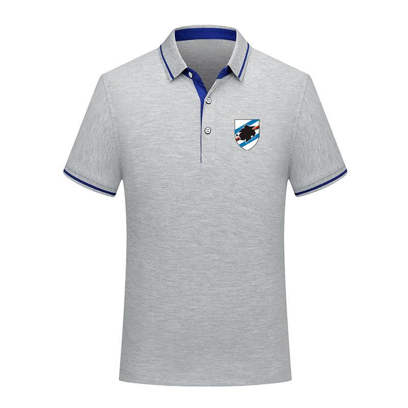 2020 UC Sampdorıa Futbol Polo gömlek erkekler Futbol kısa kollu polos moda spor eğitim Polos futbol futbol T-Shirt Jersey erkek Polos
