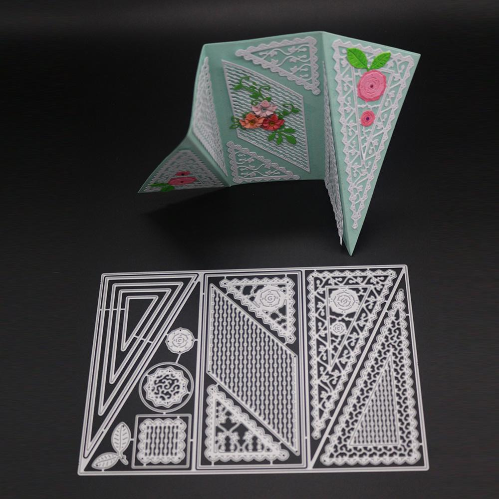 Geometry Frame Metal Cutting Dies Stencil Scrapbook DIY Card Album Embossing Art