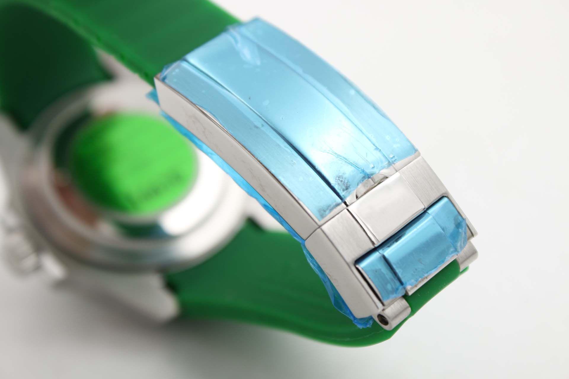 새로운 시계 116610 자동 녹색 세라믹 베젤 시계 남성 316L 녹색 고무 밴드 남자 시계 다이얼