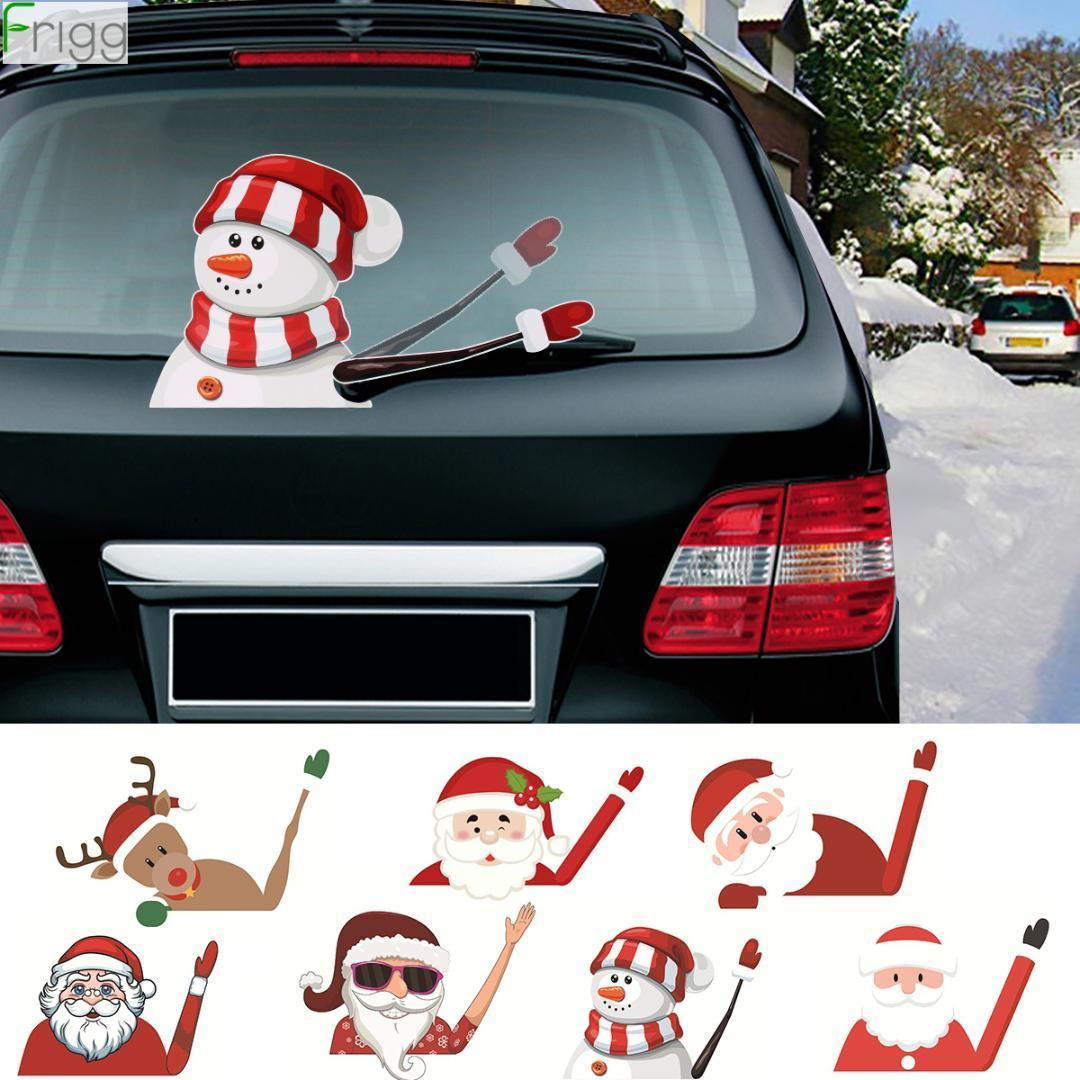 Babbo Natale dell'automobile Sticker Buon Natale decorazioni per la casa ornamenti regali di Natale Natale 2019 Capodanno 2020