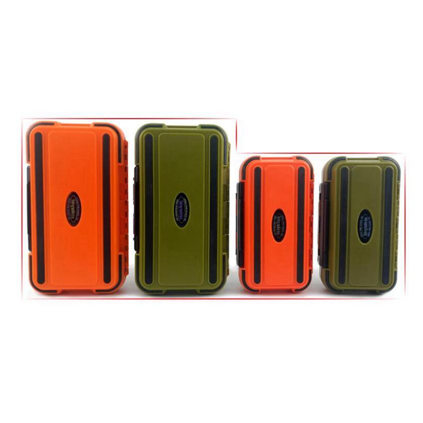 24 compartimentos Caja de pesca de doble capa Caja de aparejos de pesca de plástico Caja de accesorios de equipo de pesca resistente al agua resistente a la presión ZZA390