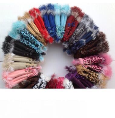 lapin gants de fourrure, les mitaines d'hiver dame, main gant du poignet, des gants demi-doigts