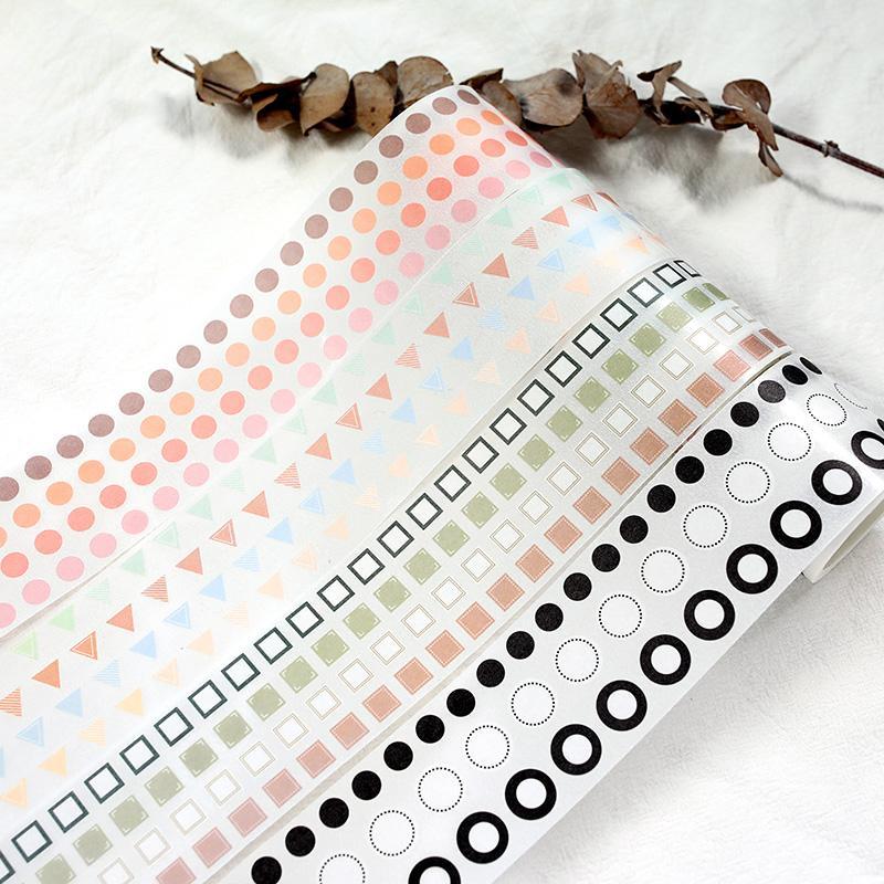 La irregularidad del patrón básico adhesivo decorativo Cinta adhesiva de Washi Tape DIY de Scrapbooking Etiqueta autoadhesiva de papelería japonés