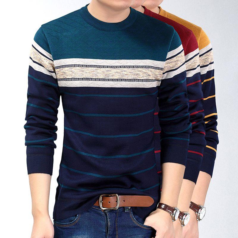 Mode Vêtements décontractés social Fitness culturisme rayé T-shirts Hommes T-shirt Jersey T-shirt Pull Camisa