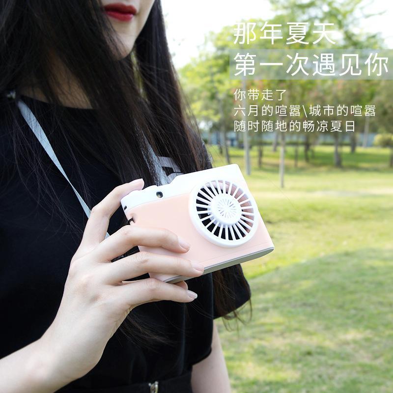Cartão de câmera pequeno ventilador Mini pulverizador superdimensionada portátil acesso duplo de ar portátil escritório dormitório ventilador de carregamento USB