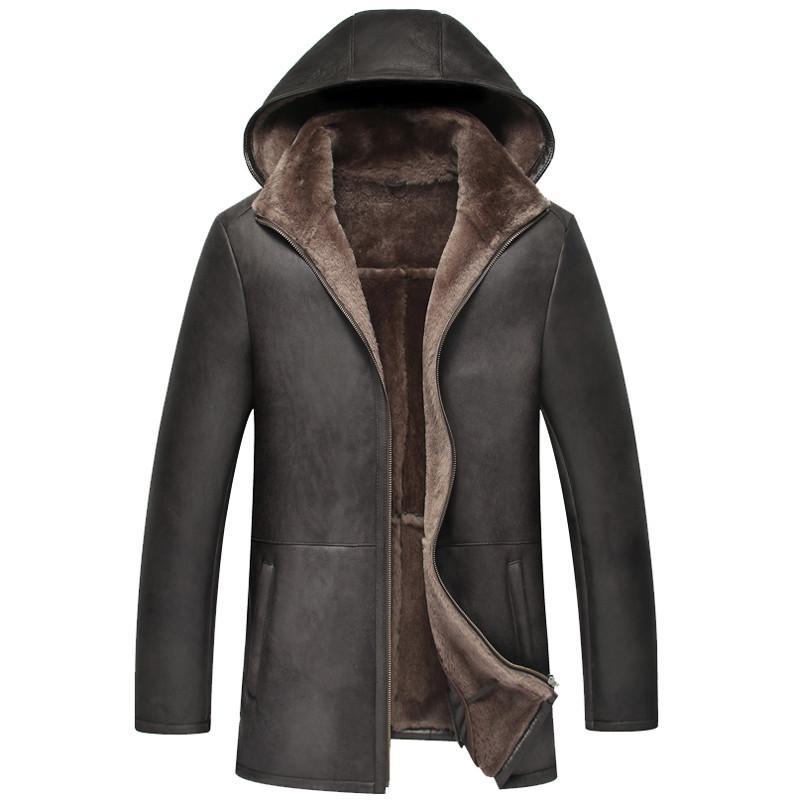 Men's Leather Jacket Natural Wool Fur Liner Coat Winter Jacket Men Genuine Sheepskin Luxury Warm Jackets Plus Size 5xl MY1618