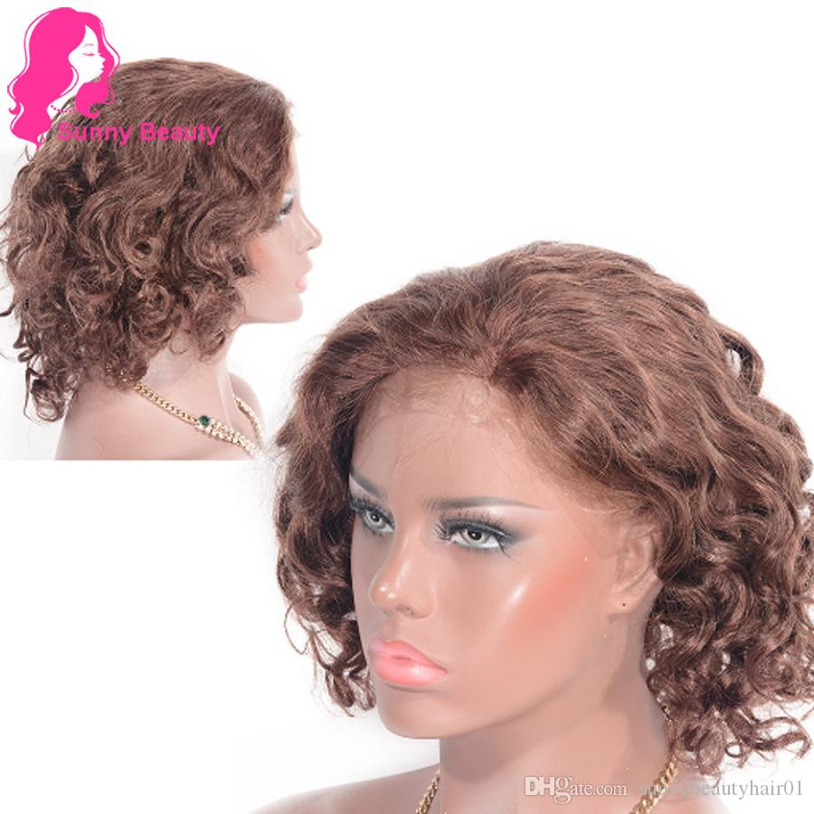 33 Loose Curly Wig 100 Human Hair Lace Frontal Wig 12 Inch Light Brown Color Lace Wigs Online Premium Now Human