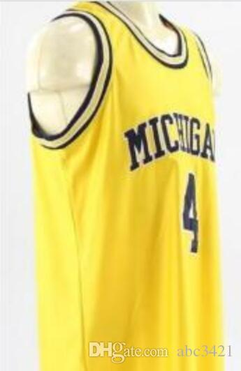 Personnalisé hommes jeunes femmes Vintage # 4 Michigan State Chris Webber non signé de basket-ball Jersey Taille S-4XL ou personnalisé n'importe quel nom ou nombre jersey
