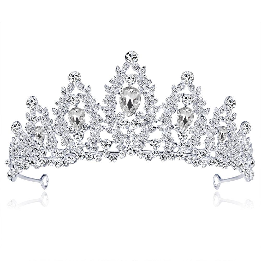 Cross-border e-commerce explosion models headdress white crystal bride princess wedding accessories crown hair accessories for women