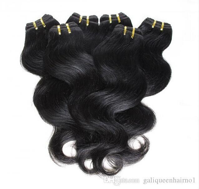 Cheveux pas cher! 20bundles beaucoup 100% Brésilien Vierge Cheveux Cheveux ondulés Weave vague de corps couleur naturelle des cheveux Extensions en gros Livraison gratuite